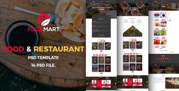 Food Mart-Food & Restaurant Online Ordering eCommerce PSD Template - Food Retail TFx Gayelord Teddy