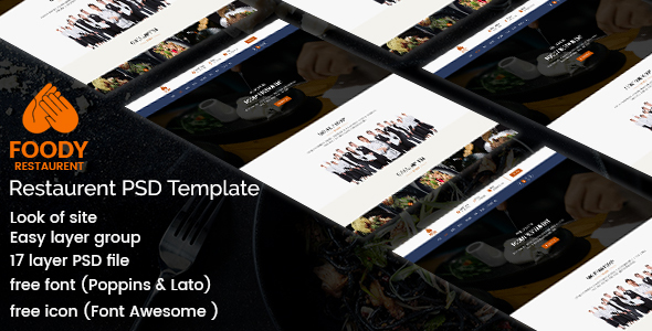 Foody - Restaurant PSD Template - Food Retail TFx Benedict Kenny