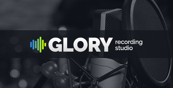 GLORY – Recording Sound Studio HTML Website Template – Music and Bands Entertainment TFx Dene Clint