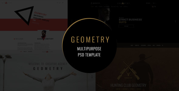 Geometry — multiresponcive psd template - Creative PSD Templates TFx Justice Wat