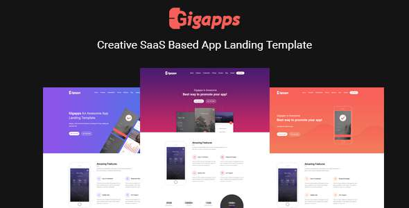 GigApps – Creative SaaS Based App Landing Template – Apps Technology TFx Stone Carter