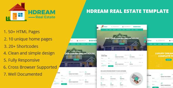 Hdream - Real Estate Responsive Template - Business Corporate TFx Seymour Katsu
