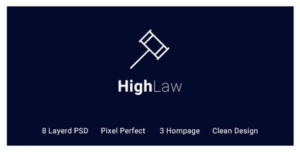 HighLaw Law Firm - Attorney PSD Templates - Business Corporate TFx Raven Jarred