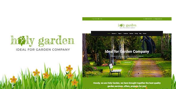 Holy Garden | Landscaping Gardening Lawn Responsive HTML Template - Business Corporate TFx Burt Grenville