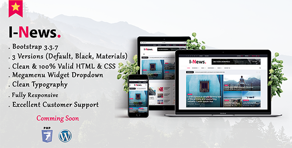 I-News - Bootstrap Responsive HTML News & Magazine Blog Template - Creative Site Templates TFx Glen Buddha