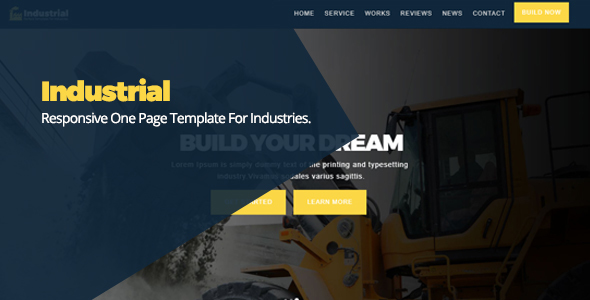 Industrial Responsive One Page Template For Industries - Business Corporate TFx Ewart Petros