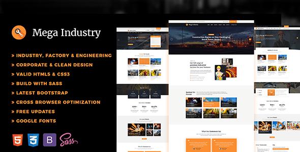 Industry - Factory, Engineering HTML5 Template - Business Corporate TFx Derek Gevorg