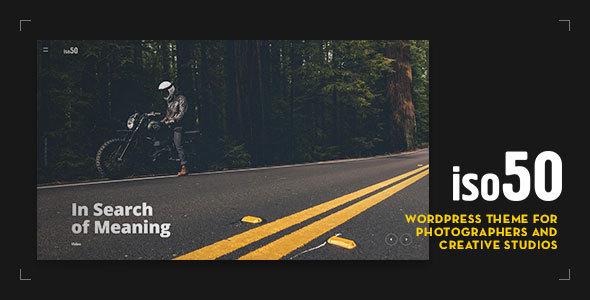 Iso50 - Photography WordPress Theme - Photography Creative TFx Arthur Lacy