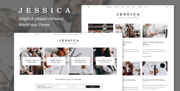 Jessica - Simple & Elegant Personal WordPress Theme - Blog / Magazine WordPress TFx Kouki Harta