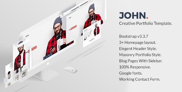 John – Creative Portfolio Template - Portfolio Creative TFx Youta Ridley