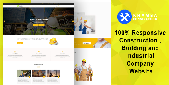 Khamba  - Construction , Building and Industrial Company HTML5 Template - Business Corporate TFx Campbell Homer