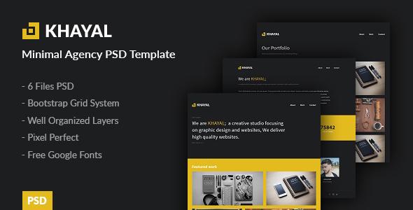 Khayal - Minimal Agency PSD Template - Portfolio Creative TFx Murray Hiram