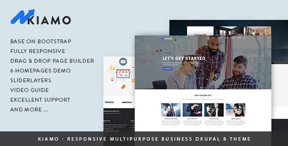 Kiamo - Responsive Business Service Drupal 8 Theme - Business Corporate TFx Abdul Marion