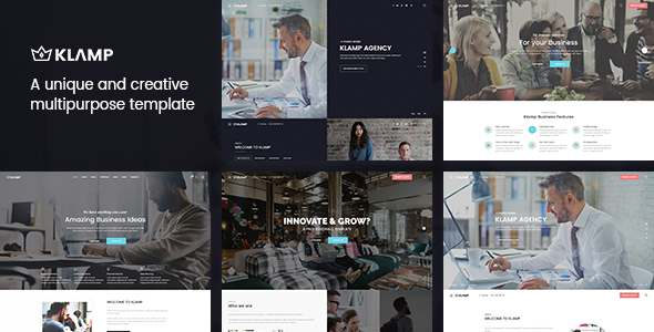 Klamp – Multipurpose HTML Template – Corporate Site Templates TFx Timothy Pacey