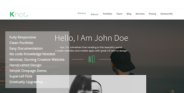 Knot - Responsive Resume CV Portfolio Template - Portfolio Creative TFx Isamu Joyce