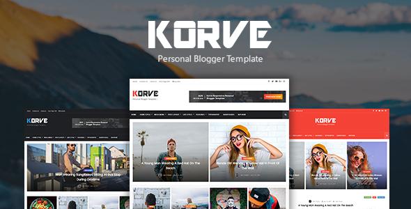 Korve – Personal Blogger Template – Blogger Blogging TFx Wilkie Dre