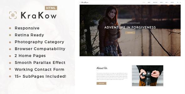 Krakow - Photography HTML Template - Photography Creative TFx Voski Preston