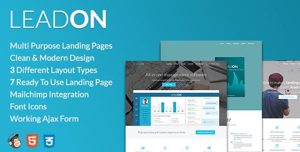 LeadOn - Multi-Purpose Landing Page Pack - Landing Pages Marketing TFx Ryouichi Irwin