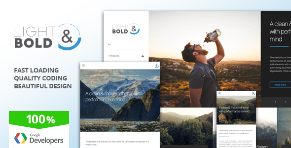 Light & Bold - Speed-Focused WordPress Theme - Corporate WordPress TFx Harper Florence