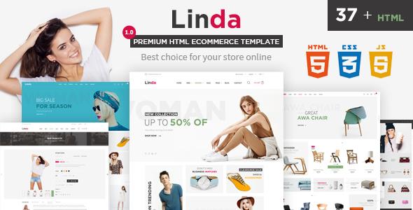 Linda - Mutilpurpose eCommerce HTML Template - Retail Site Templates TFx Xavier Ash