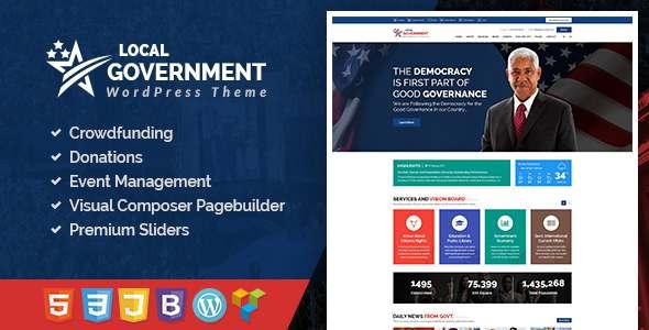 Local Government WordPress Theme for Town & Municipality Websites - Nonprofit WordPress TFx Taiki Sonny