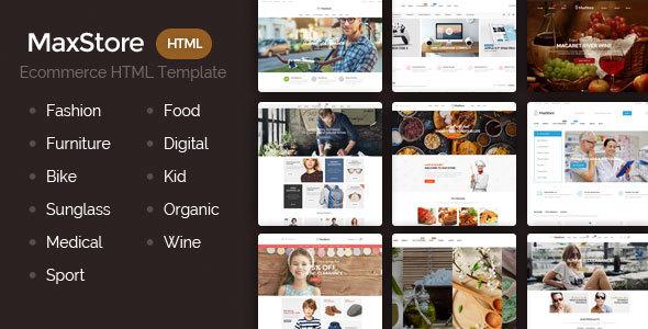 Maxstore – Creative & Responsive HTML Template – Shopping Retail TFx Hinata Indiana
