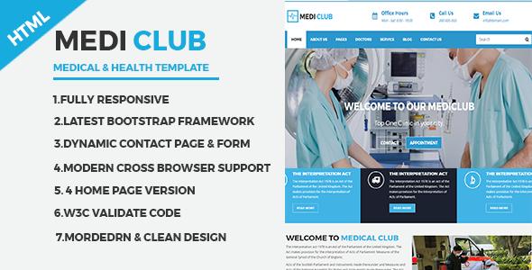 MediClub - Medical & Health Html Responsive Template - Health & Beauty Retail TFx Chadwick Bryn