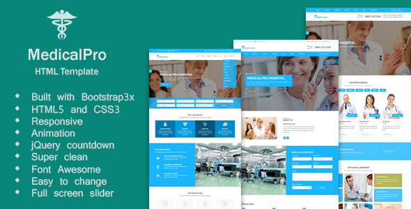 MedicalPro - Multi Theme For Hospital, Health Care, Clinic, Nursing and Doctor HTML Template - Health & Beauty Retail TFx Thorley Bagrat