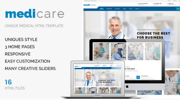 Medicare – Medical HTML/CSS Template for Doctors & Hospitals – Health & Beauty Retail TFx Randy Zac