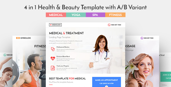 Mediclick - Medical Landing Page WordPress Theme - Health & Beauty Retail TFx Hadyn Kipling