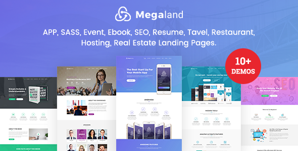 MegaLand - Multipurpose Landing Page Template - Landing Pages Marketing TFx Taylor Darma