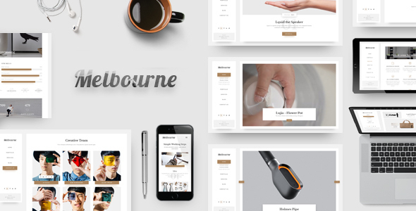 Melbourne – Minimal, Elegant and Responsive HTML/CSS Template – Portfolio Creative TFx Wesley Lewis