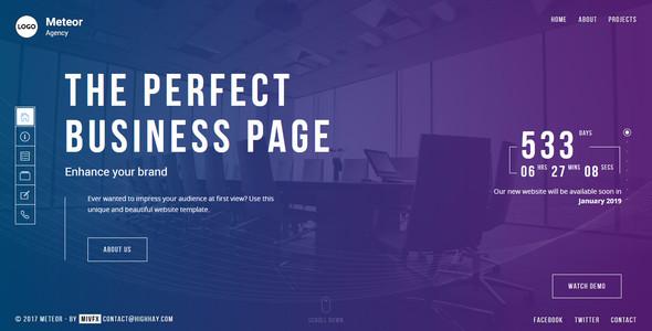 Meteor - Creative Website template for agency, business and portfolio - Portfolio Creative TFx Itsuki Montana