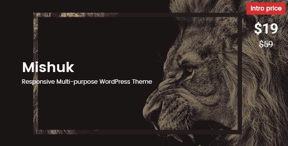 Mishuk - Responsive Multi-purpose WordPress Theme - Creative WordPress TFx Gord Cahyo