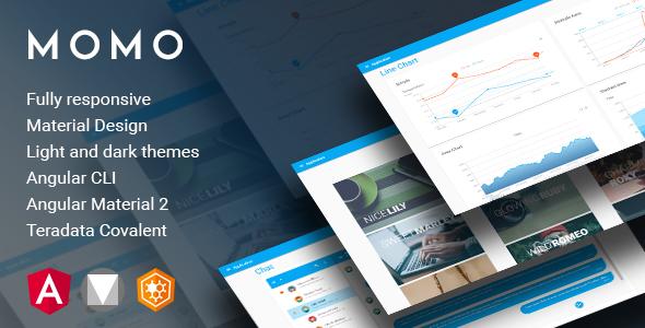 Momo - Angular 4 Material Design Admin Template - Admin Templates Site Templates TFx Madison Odin