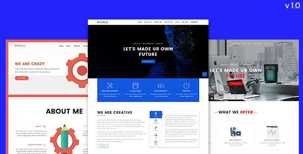 Monga - Multipurpose Bootstrap Templates - Business Corporate TFx Rube Wat