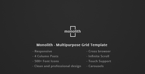 Monolith - Responsive Multipurpose Grid Template - Personal Site Templates TFx Nathan Jayce