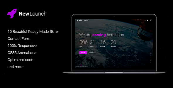 New Launch - Responsive Coming Soon Page HTML - Under Construction Specialty Pages TFx Roswell Jonah