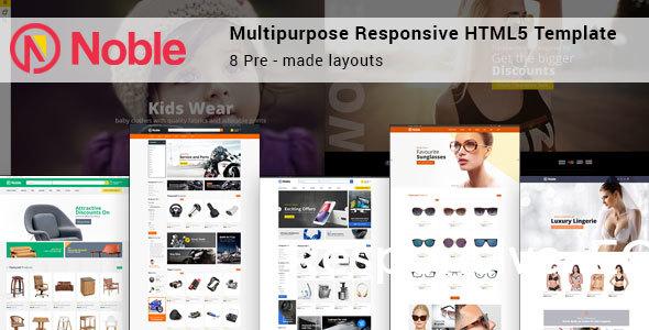 Noble - Responsive Multipurpose E-Commerce HTML5 Template - Retail Site Templates TFx Everitt Herman