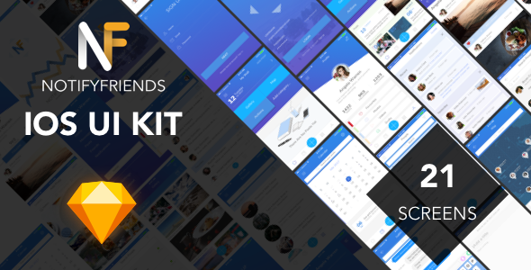 NotifyFriends - Mobile Ui Kit for Sketch - Sketch Templates  TFx Sarkis Raharjo