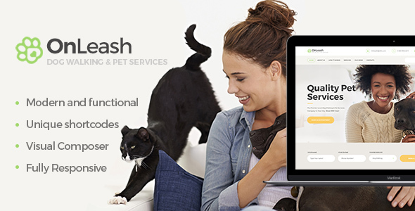 OnLeash | Dog Walking & Pet Services - Retail WordPress TFx Tirto Wardell
