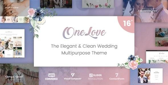 OneLove - The Elegant & Clean Multipurpose Wedding WordPress Theme - Wedding WordPress TFx Mega Ainsley