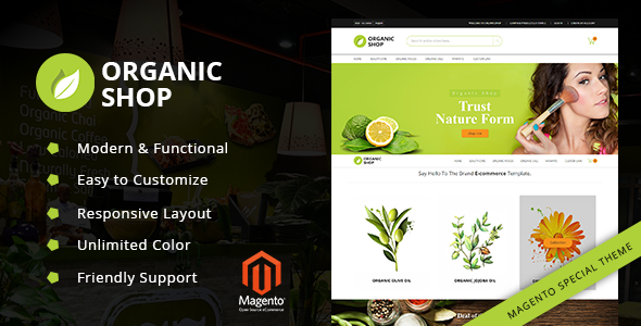Organic Shop - Responsive Magento2 Theme - Miscellaneous Magento TFx Hovik Micky