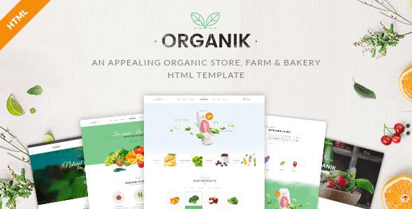 Organik - An Appealing Organic Store, Farm & Bakery HTML Template - Food Retail TFx Kodey Cade