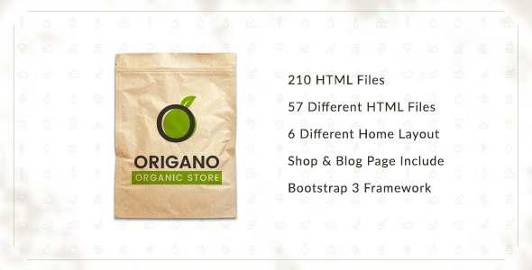 Origano - Organic Store HTML Template - Food Retail TFx Warwick Hammond