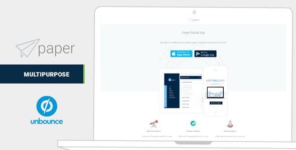 Paper Mulitipurpose Unbounce Landing Pages - Unbounce Landing Pages Marketing TFx Benjamin Bagus