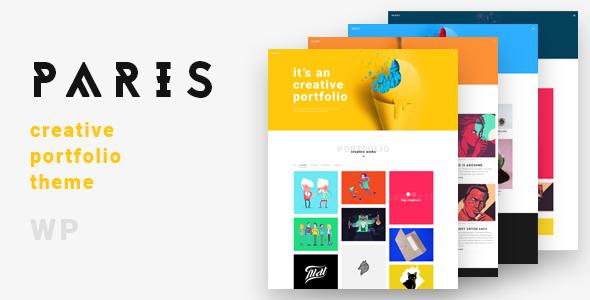 Paris a Lovely & Creative Portfolio Theme - Portfolio Creative TFx Maximillian Rolo
