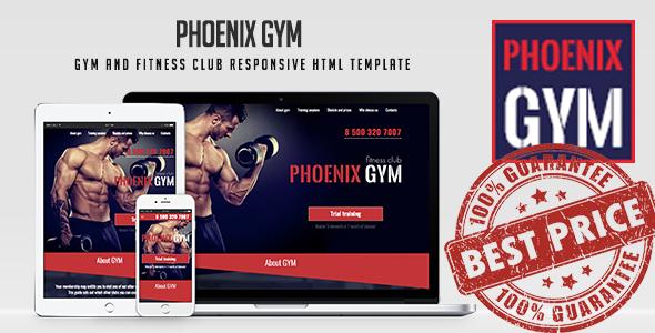 Phoenix Gym - Gym and Fitness Club Responsive HTML Template - Marketing Corporate TFx Tracy Antony