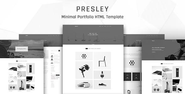 Presley - Creative Portfolio HTML5 Template - Portfolio Creative TFx Wilton Lennard