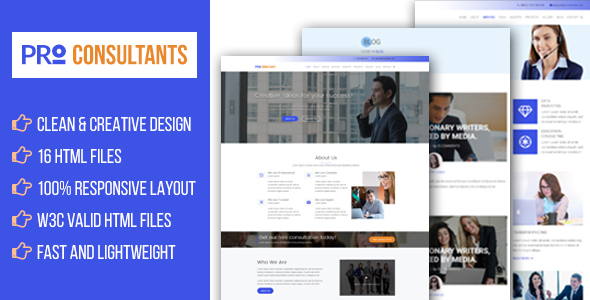 Pro Consultants - Business Consulting and Professional Services Website Template - Business Corporate TFx Doug Hank